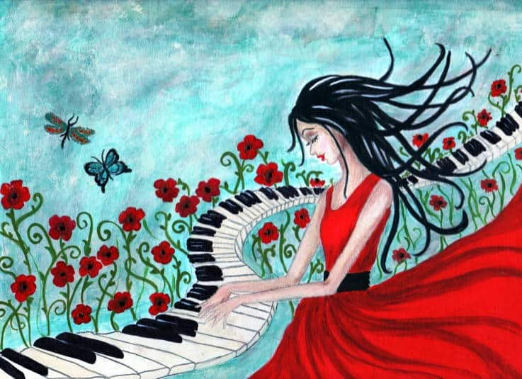 Piano Day - Pianos in Art - Piano Girl