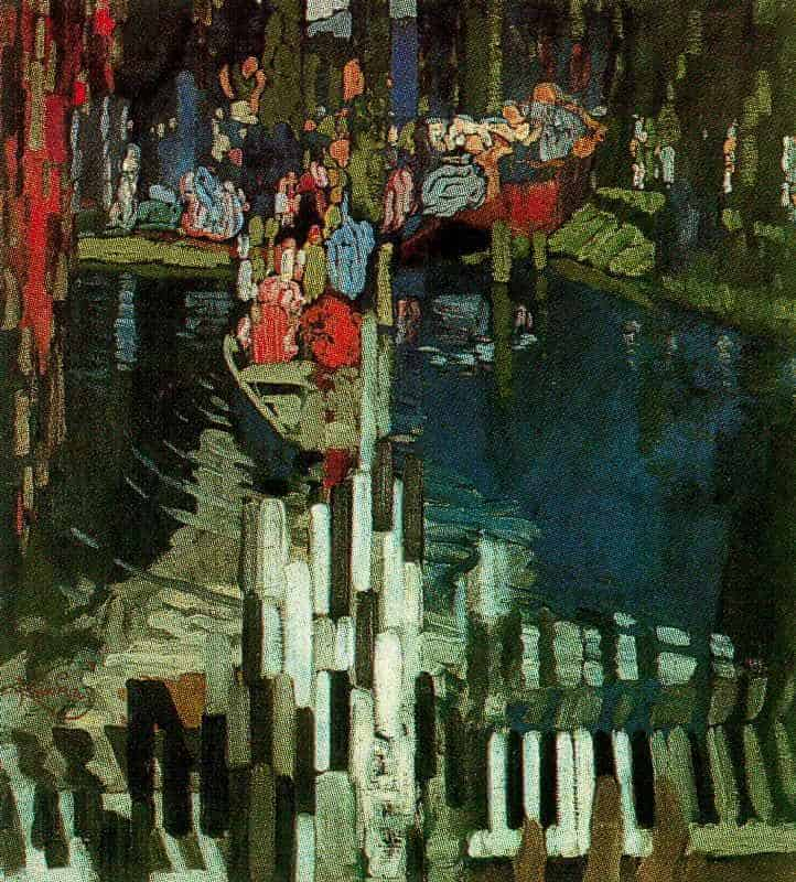 Famous Paintings - Piano Keys Lake