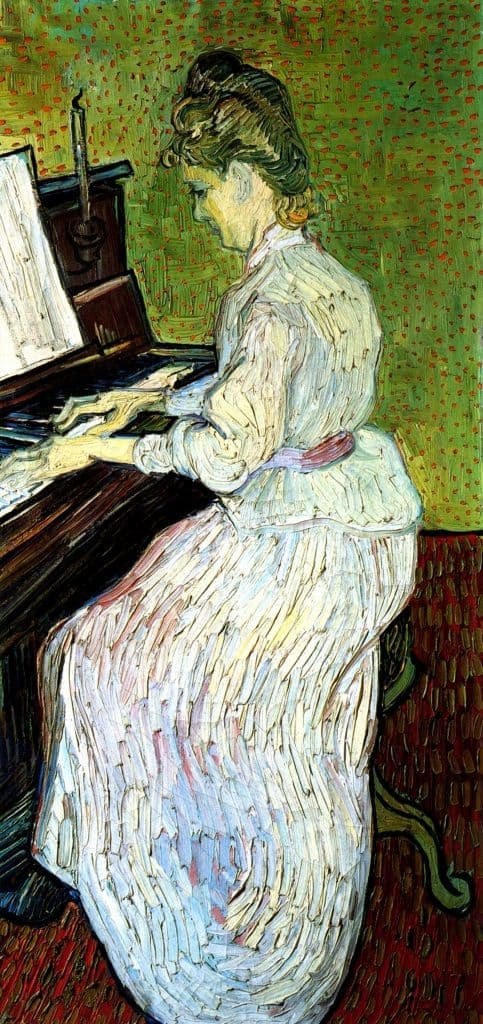 Famous Paintings - Marguerite Gachet at the Piano